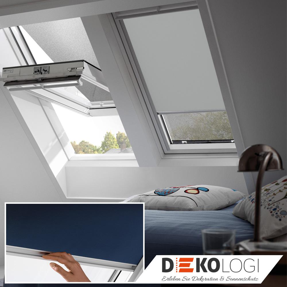 velux hitzeschutz rollo verdunkelung dachfensterrollo pvc-fenster
