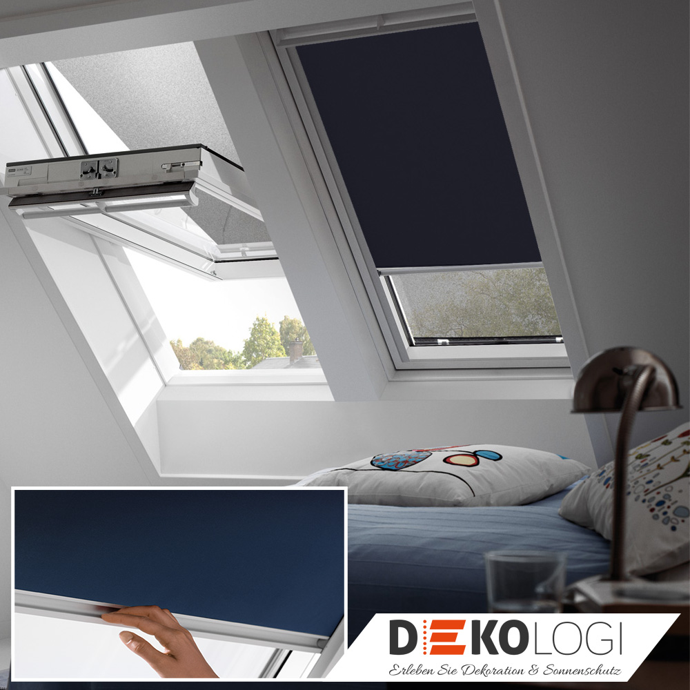 velux hitzeschutz rollo verdunkelung dachfensterrollo pvc fenster ggu gpu ghu ebay. Black Bedroom Furniture Sets. Home Design Ideas